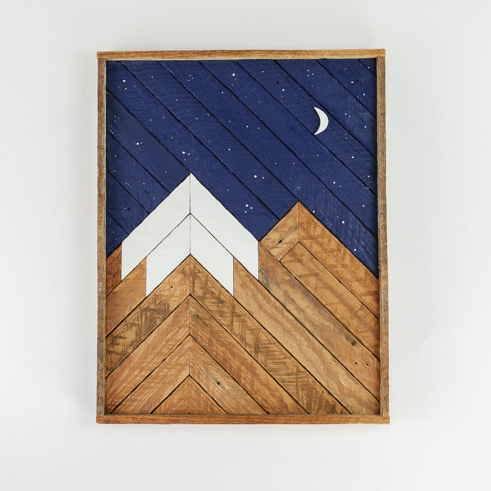 Wooden Mountain Wall Hanging