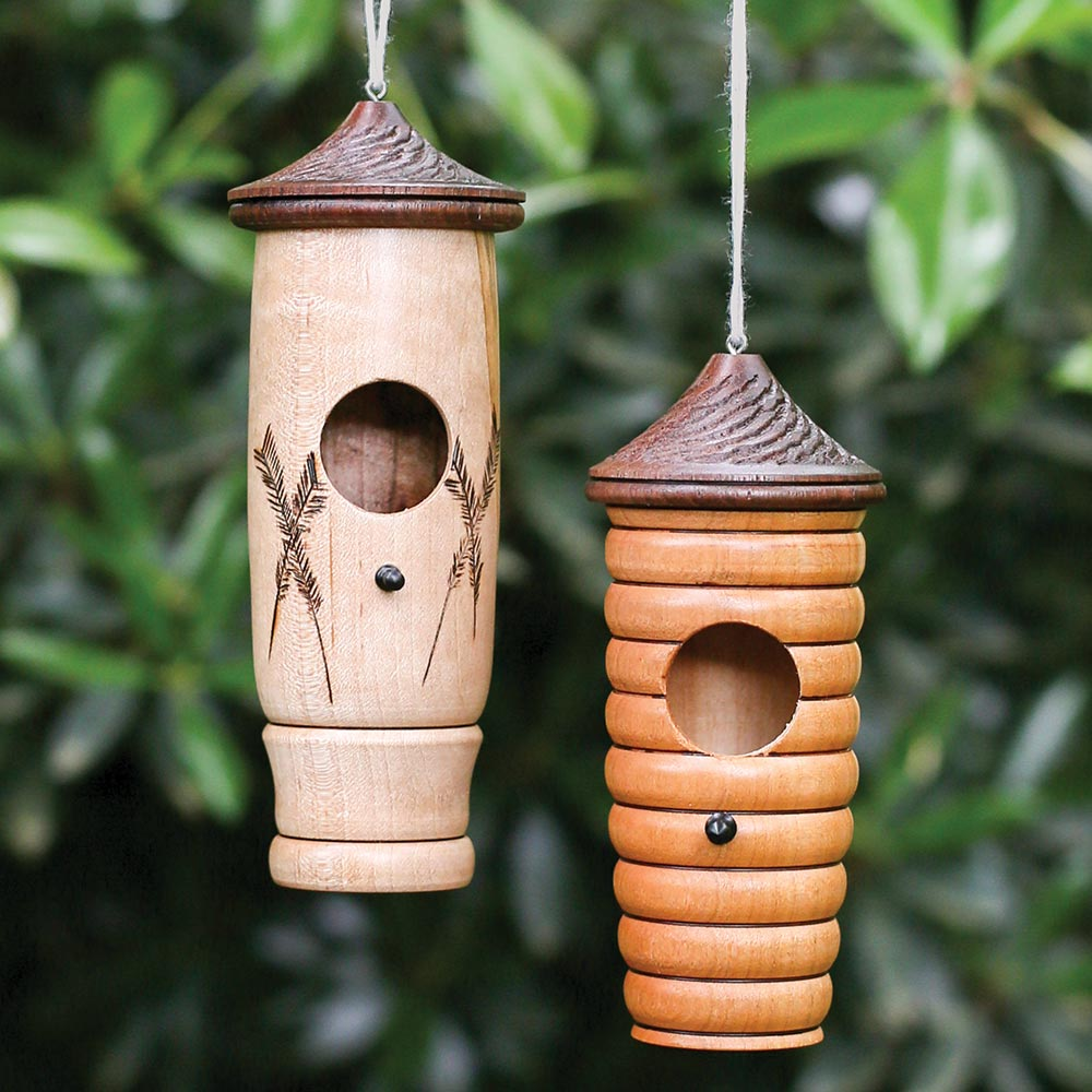 Wooden Hummingbird House