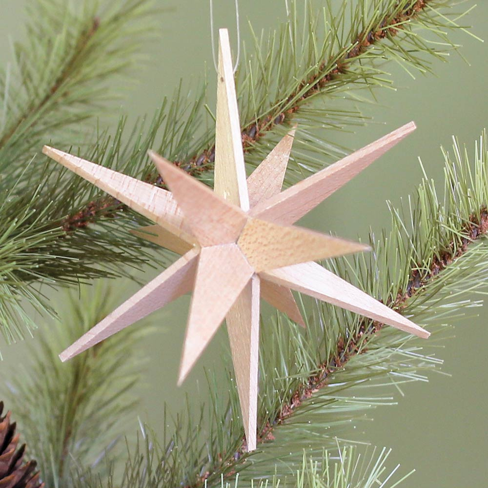 Wooden Moravian Star Ornament