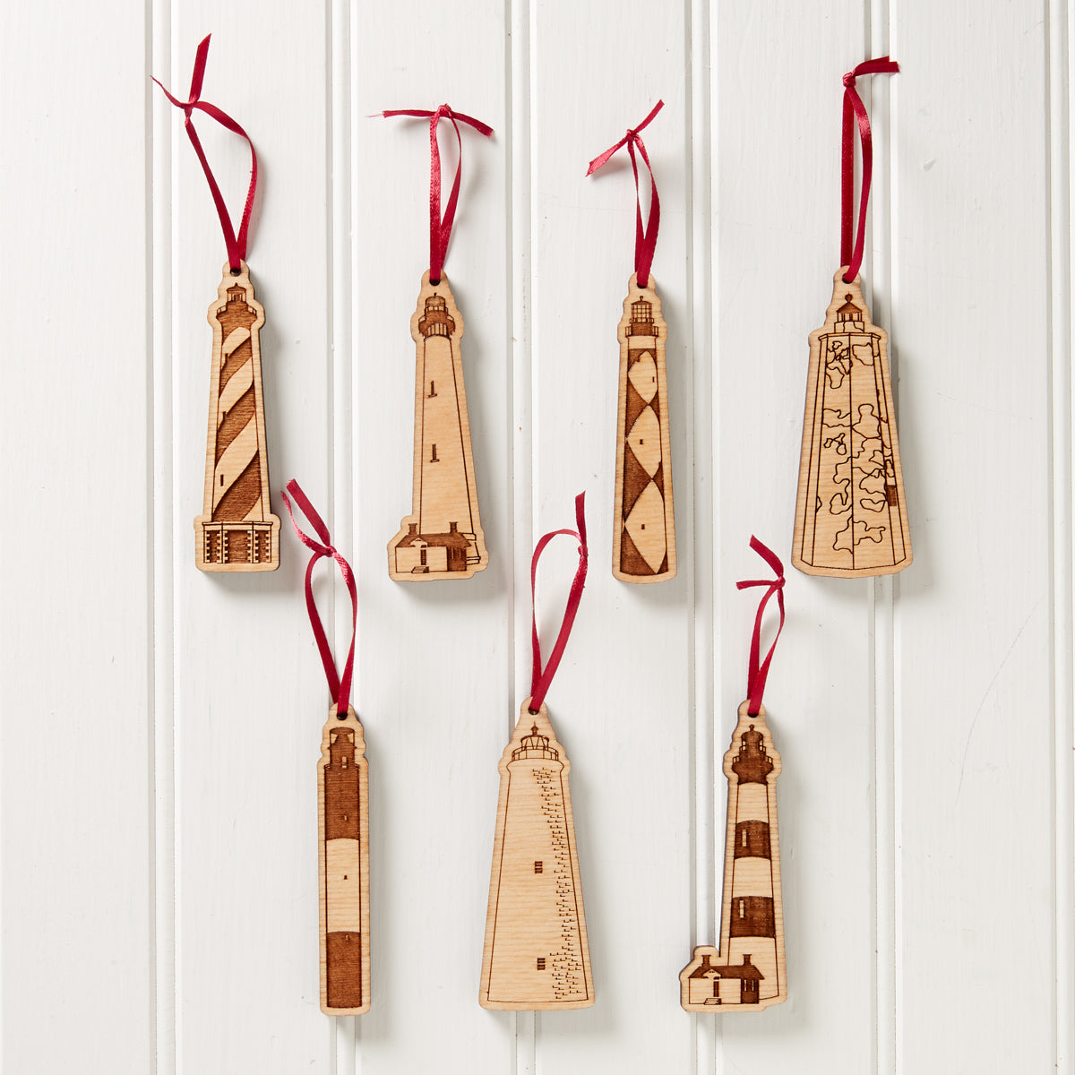 Wooden Lighthouse Ornaments