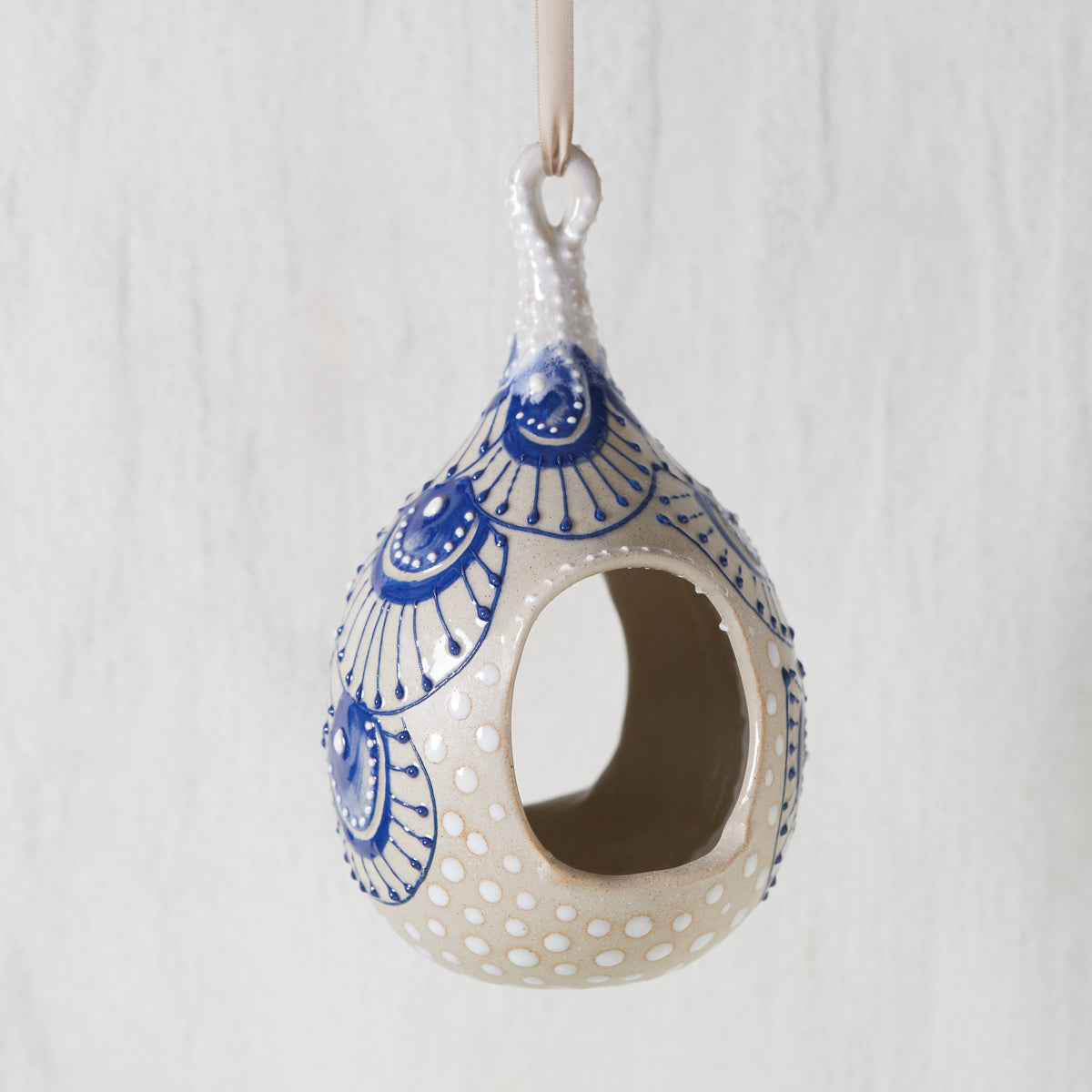 Artisan Pottery Bird Feeder