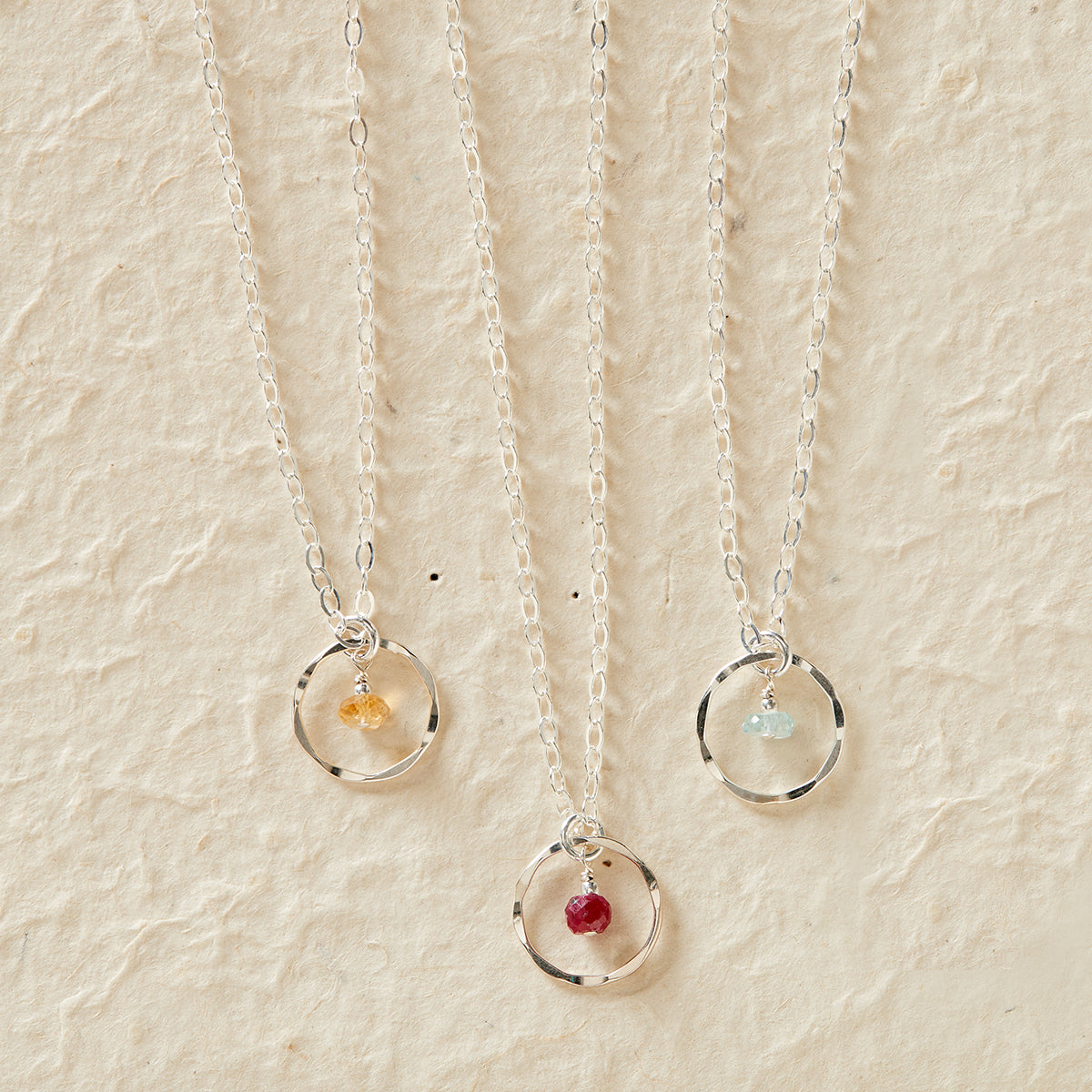 Faceted Birthstone Necklace