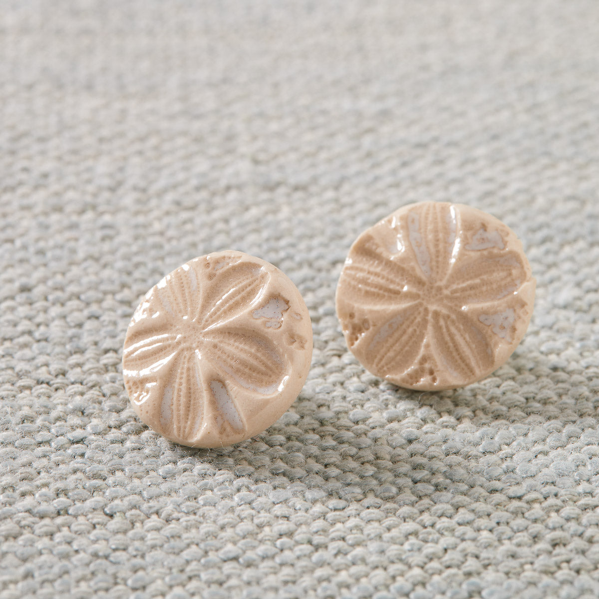 Clay Sand Dollar Earrings