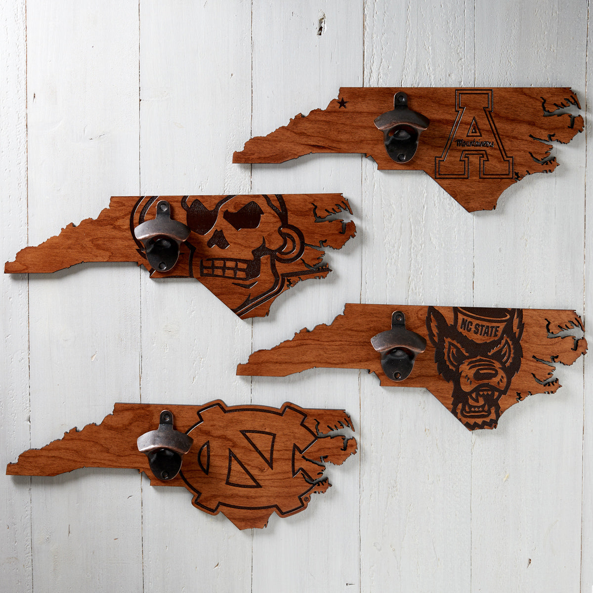 Wooden Collegiate Bottle Openers