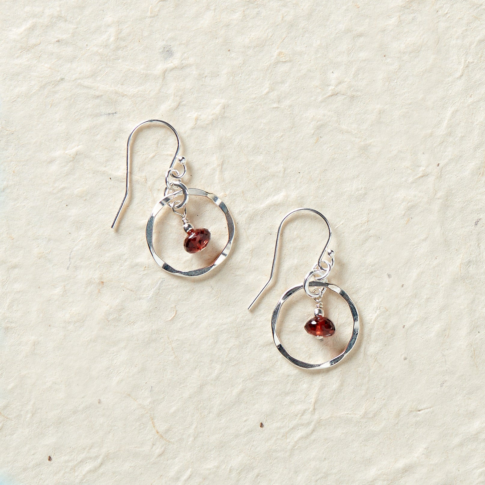 Faceted Birthstone Earrings