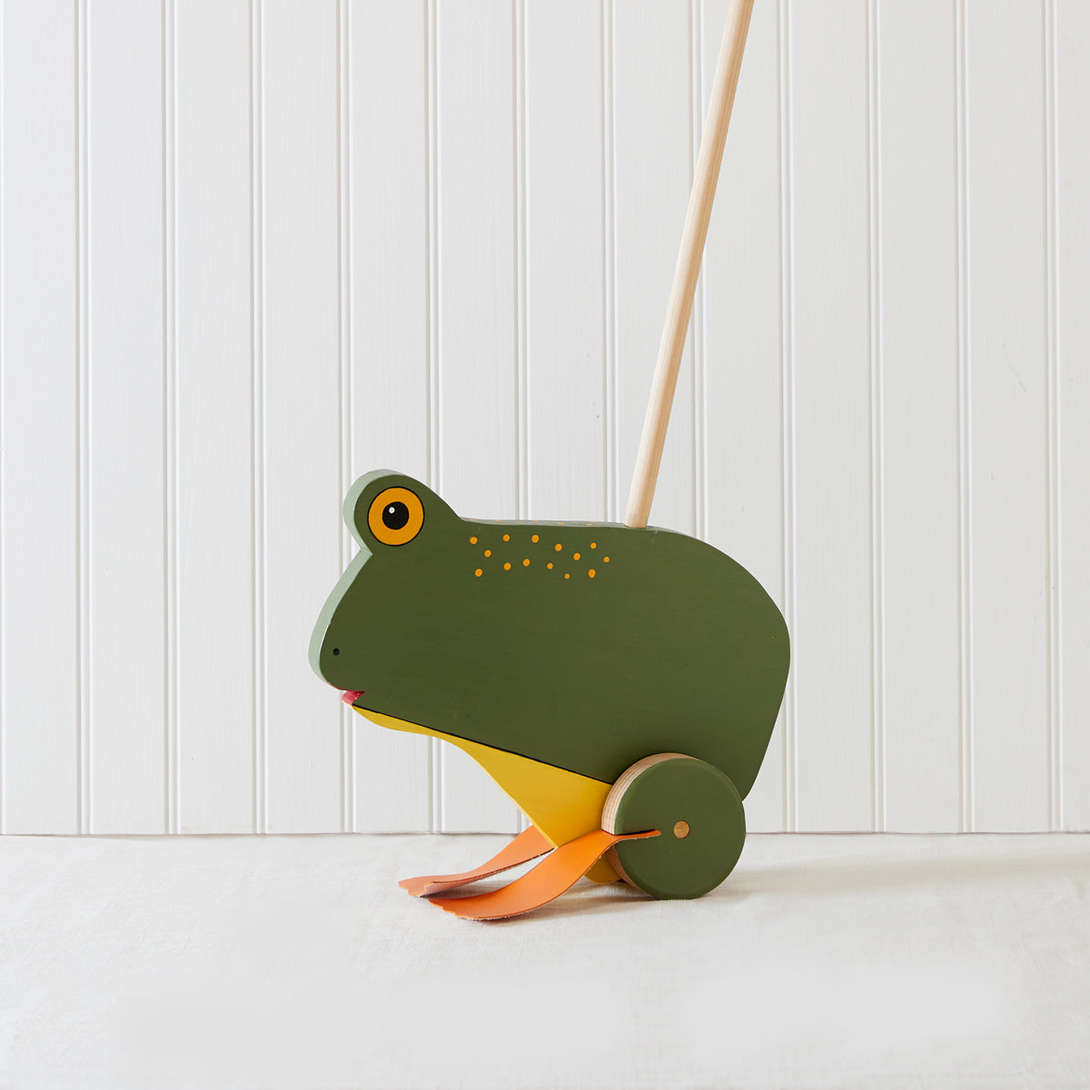 Frog Heirloom Push Toy