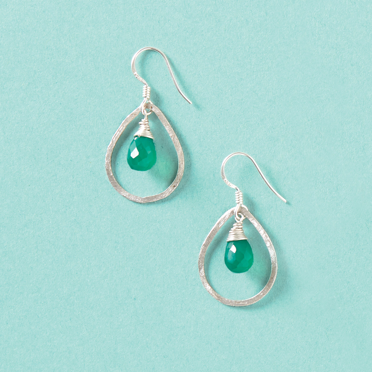 Green Agate Earrings