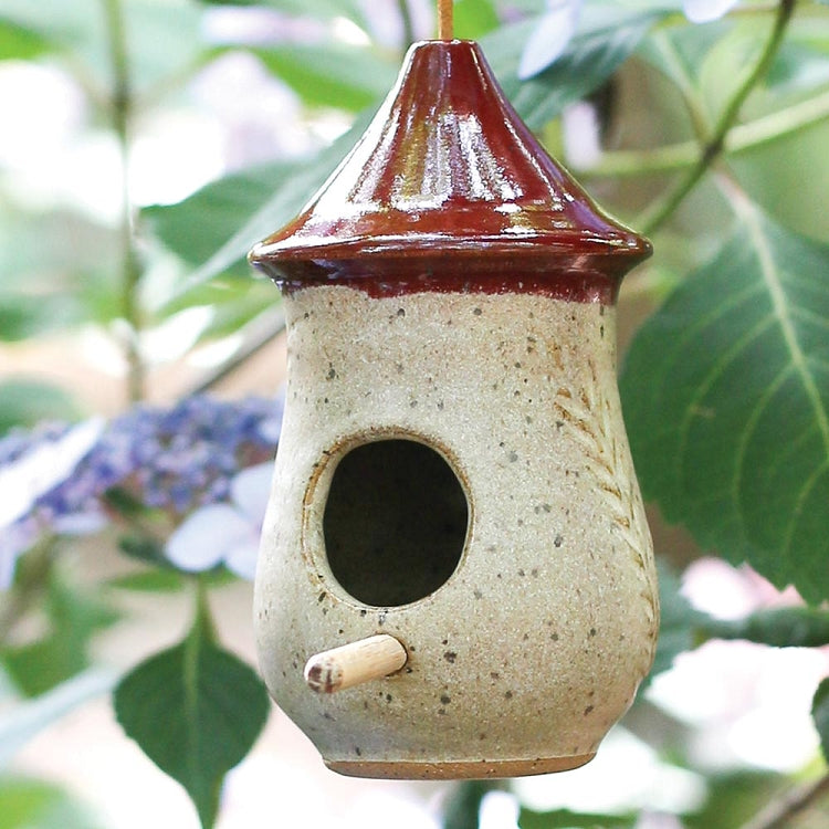 Pottery Hummingbird House