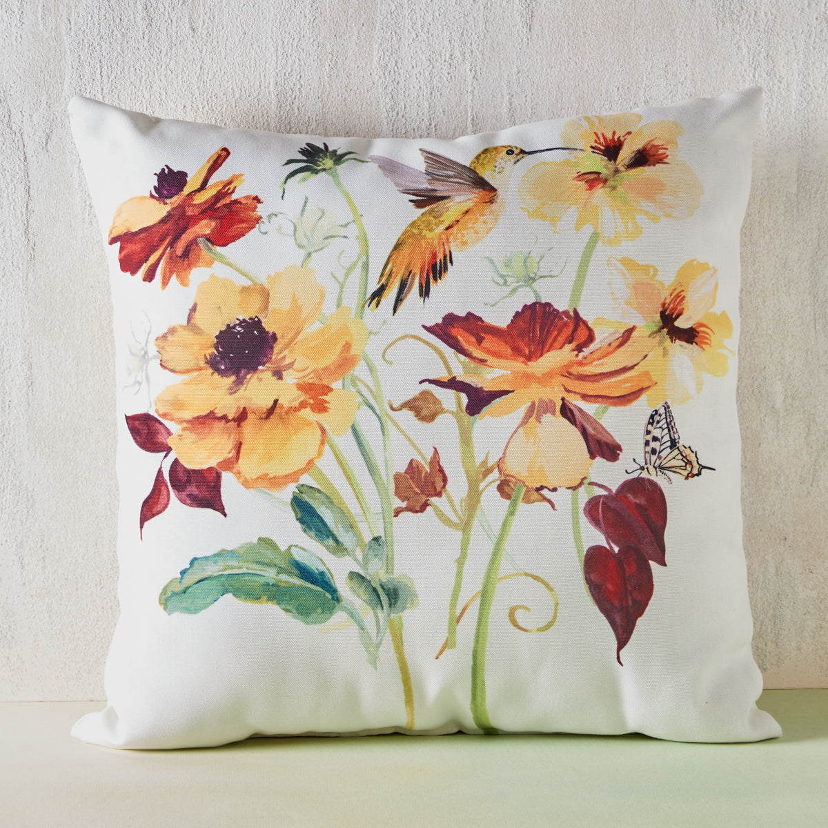 Hummingbird & Butterfly Indoor/Outdoor Pillow
