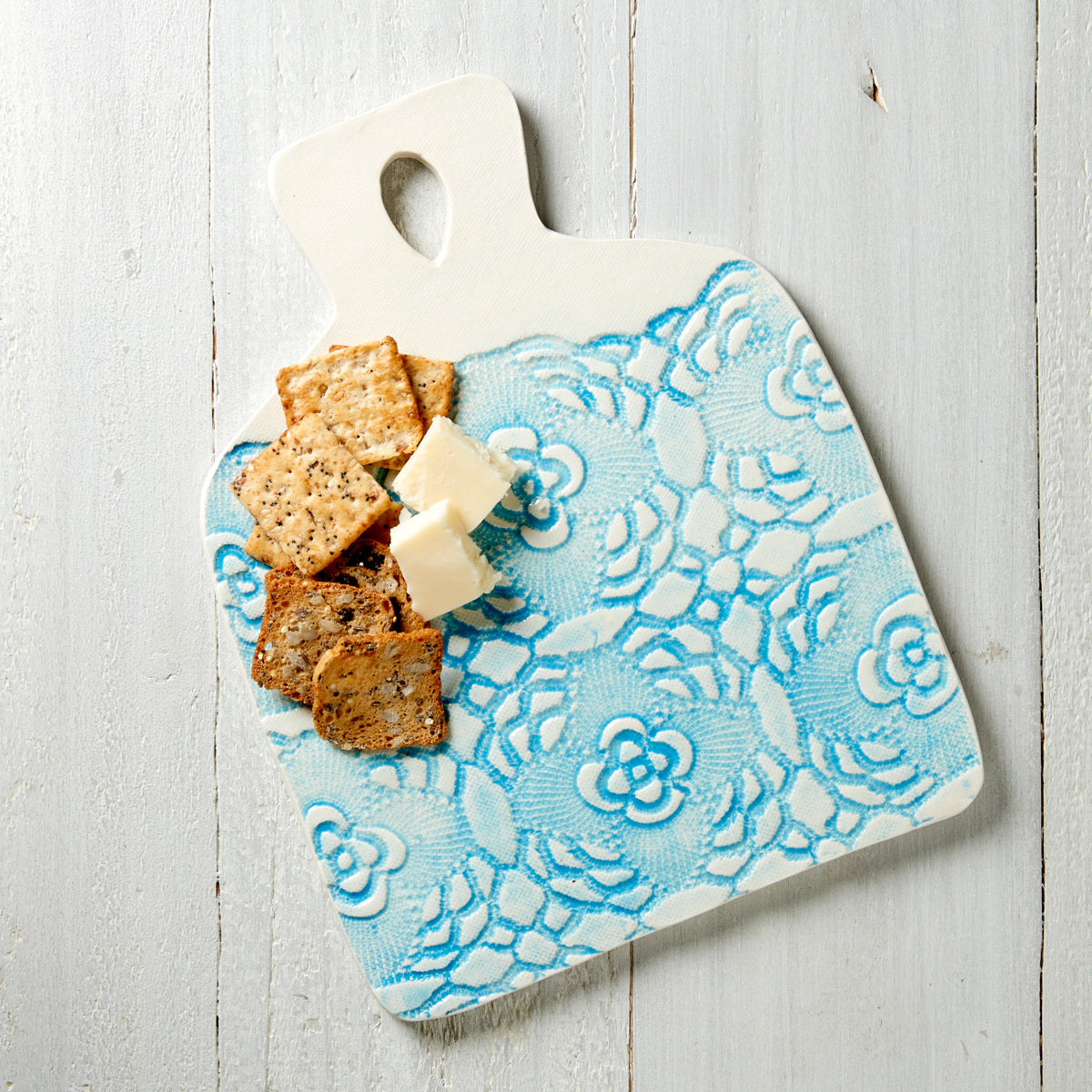 Lace Imprinted Pottery Board