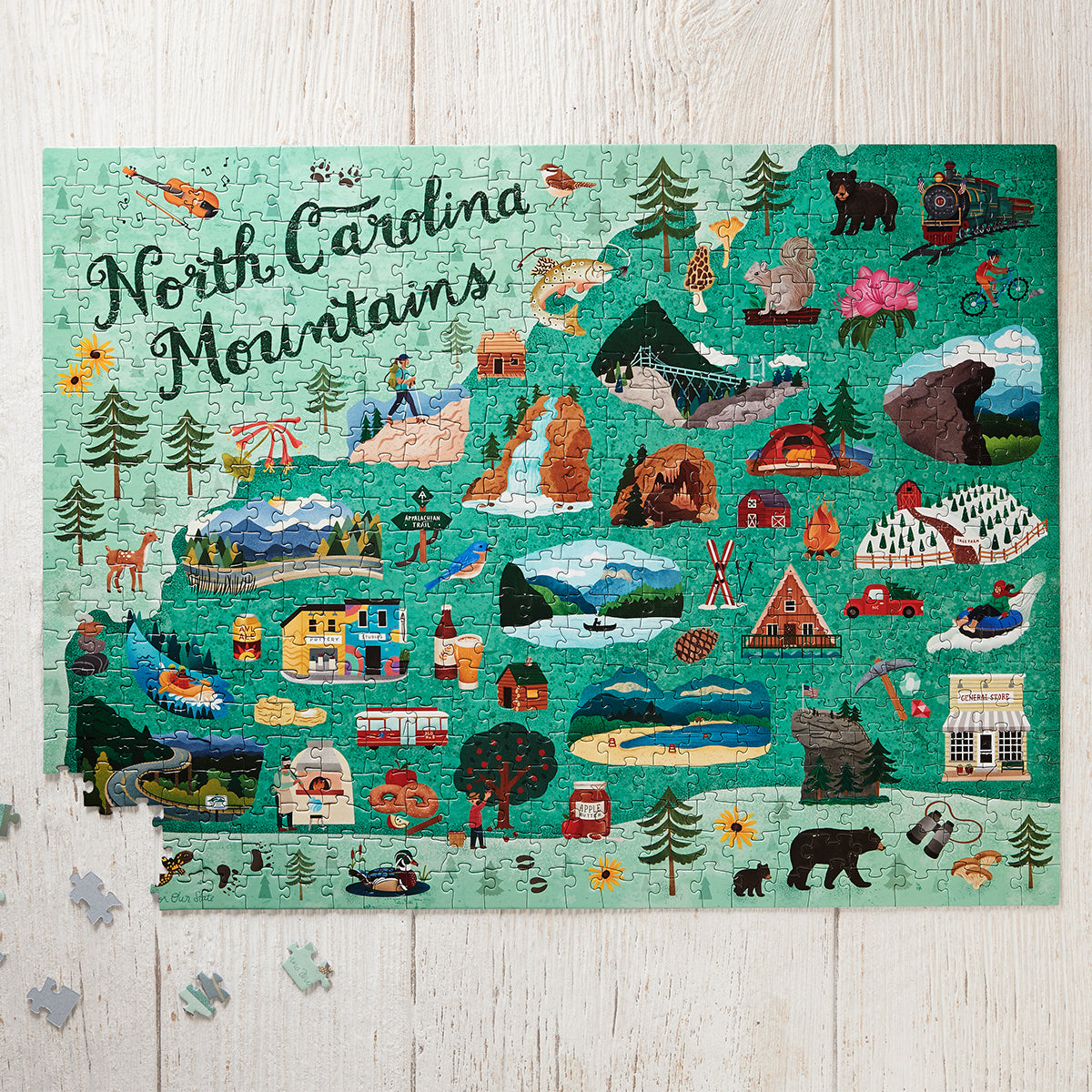 North Carolina Mountain Icons Jigsaw Puzzle