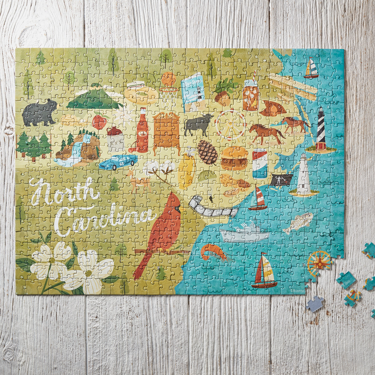 North Carolina Icons Jigsaw Puzzle