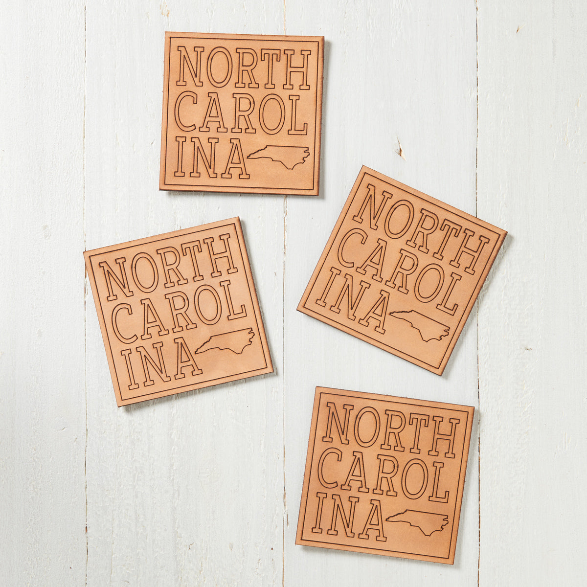 North Carolina Leather Coasters