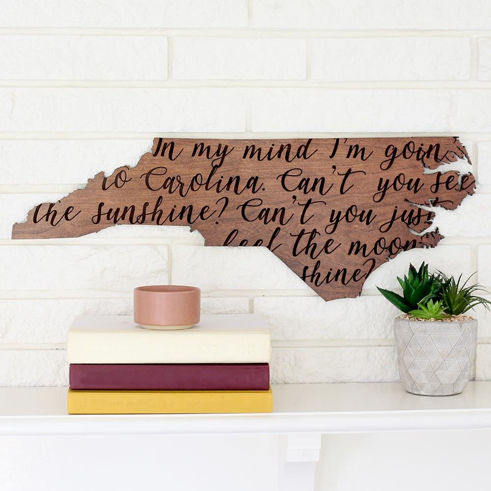Gone To Carolina Wooden Wall Art