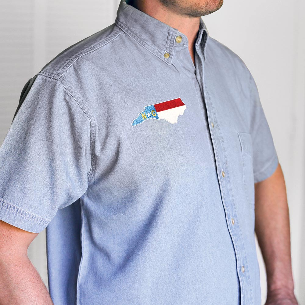 North Carolina Short-Sleeve Denim Shirt