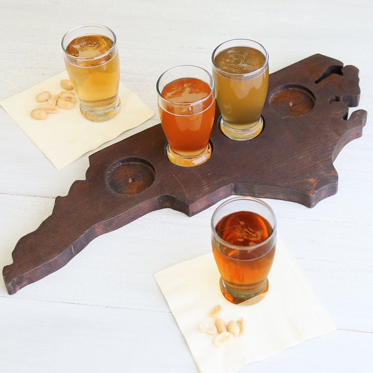 North Carolina-Shaped Beer Flight