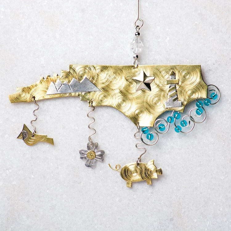 North Carolina Symbols Ornament