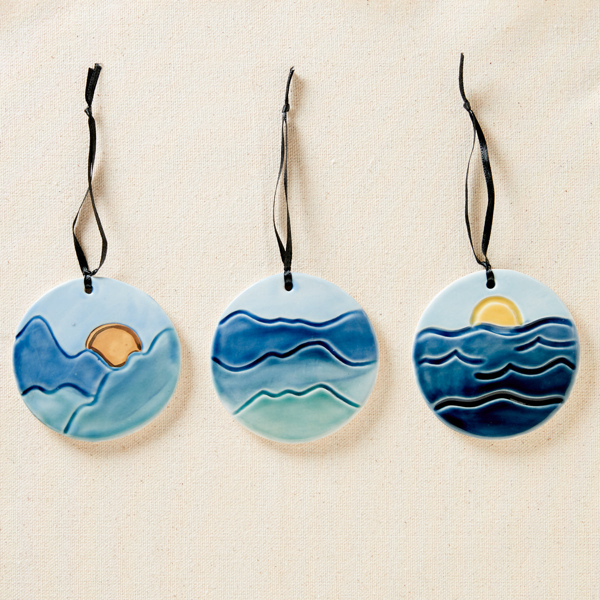Scenic Pottery Ornaments
