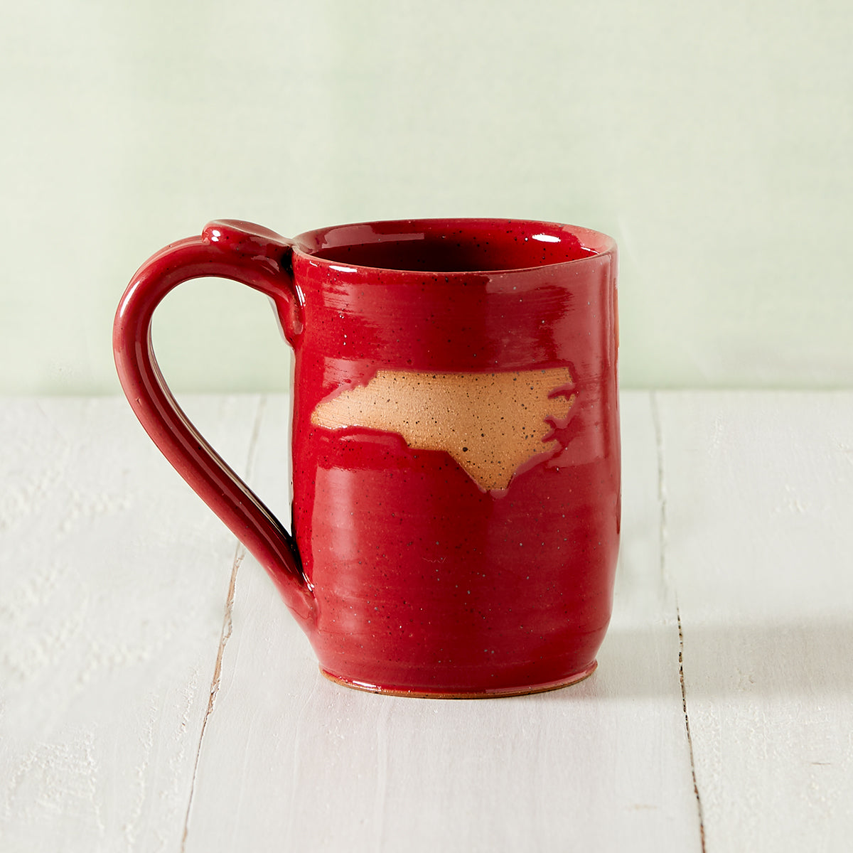 Red North Carolina Pottery Mug