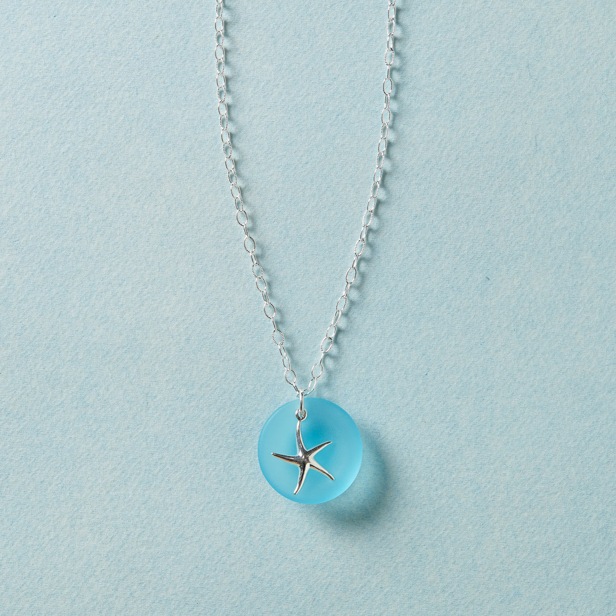 Sea Glass Starfish Necklace