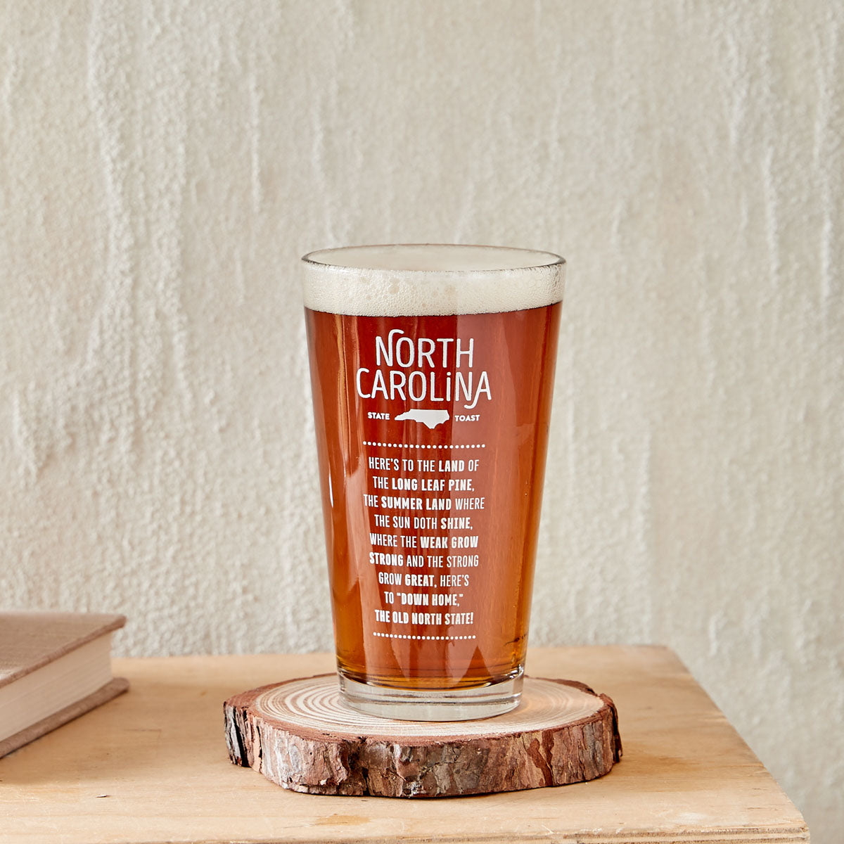 North Carolina State Toast Pint Glass