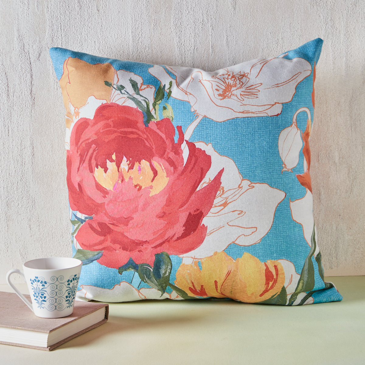 Vivid Peony Indoor/Outdoor Pillow