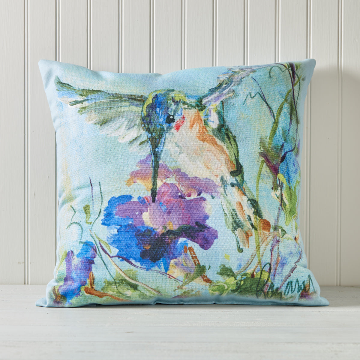 Watercolor Hummingbird Indoor/Outdoor Pillow