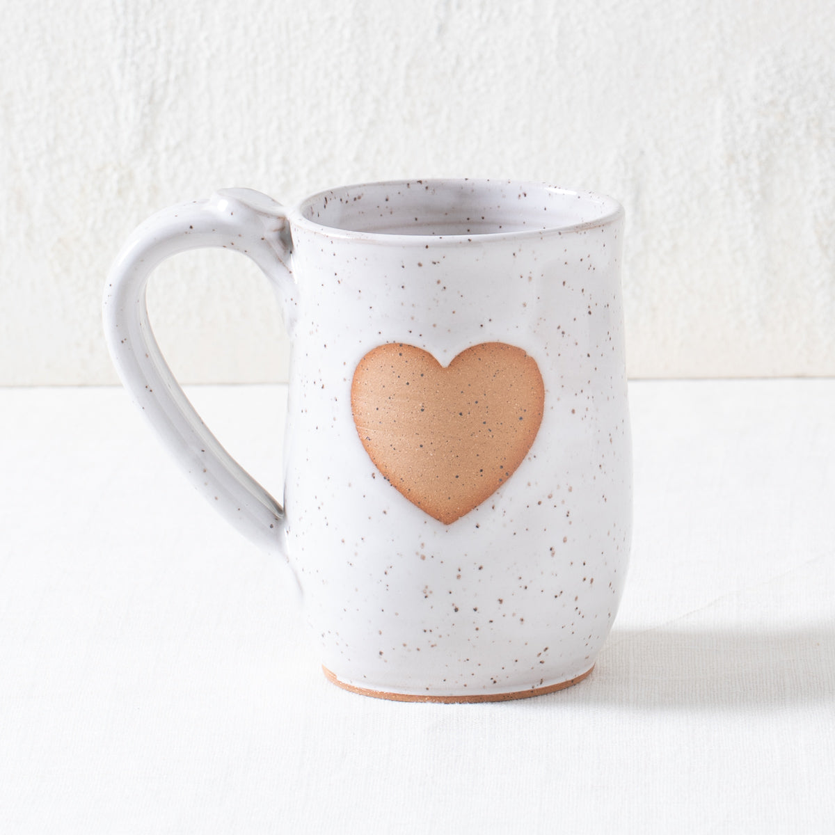 White Heart Pottery Mug