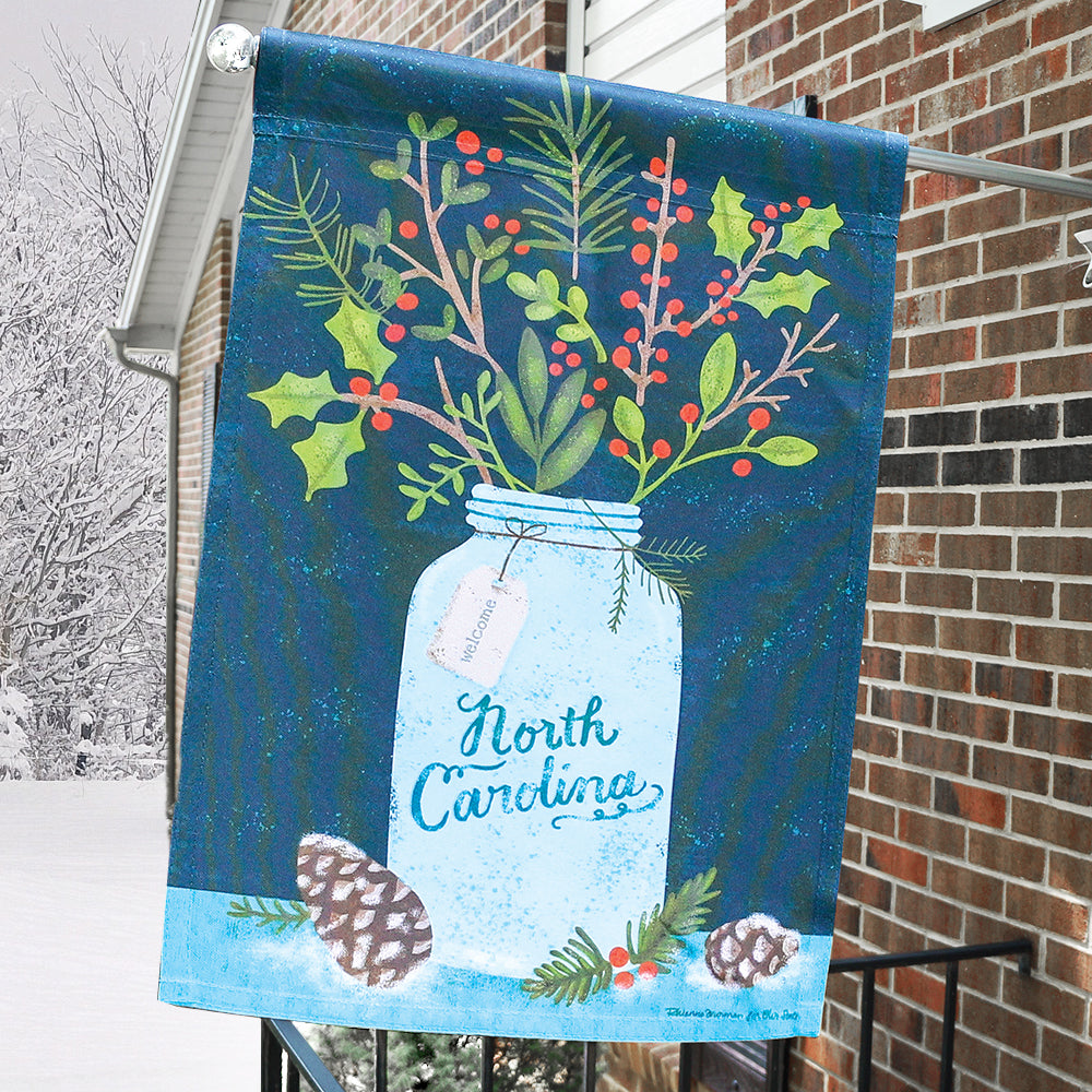 Winter Bouquet House Flag