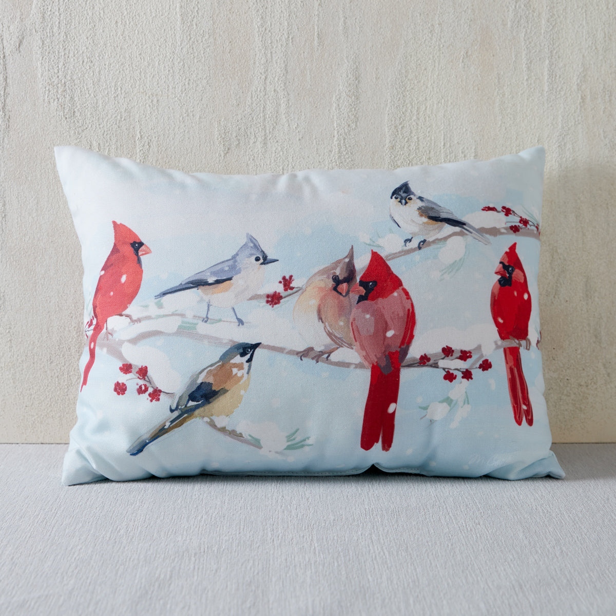 Winter Companions Throw Pillow