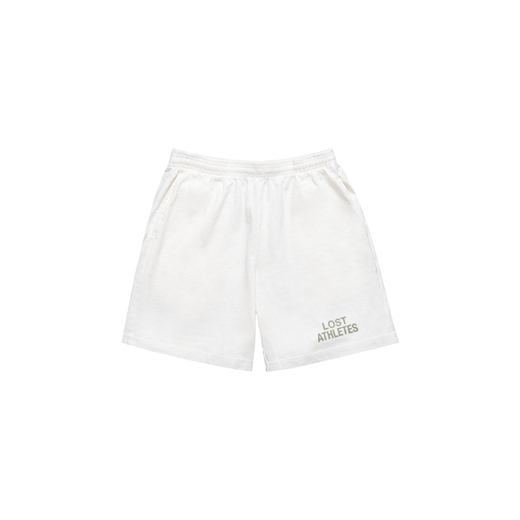Off White Mid-length Heavy Jersey Shorts