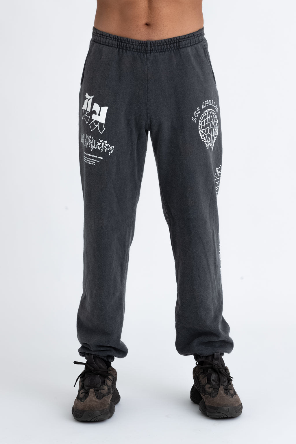 Washed Black New World Track Pants