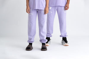 Washed Lilac New World Track Pants