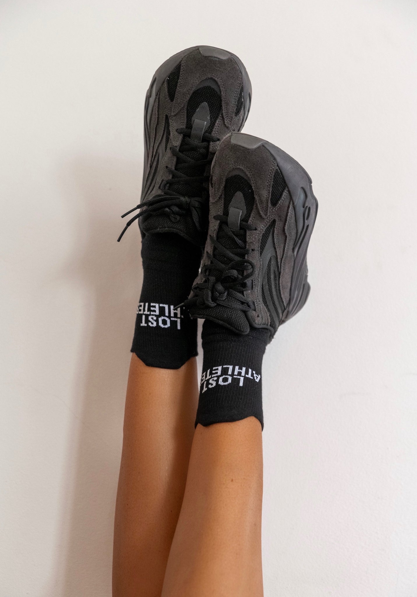 Black LA crew Socks
