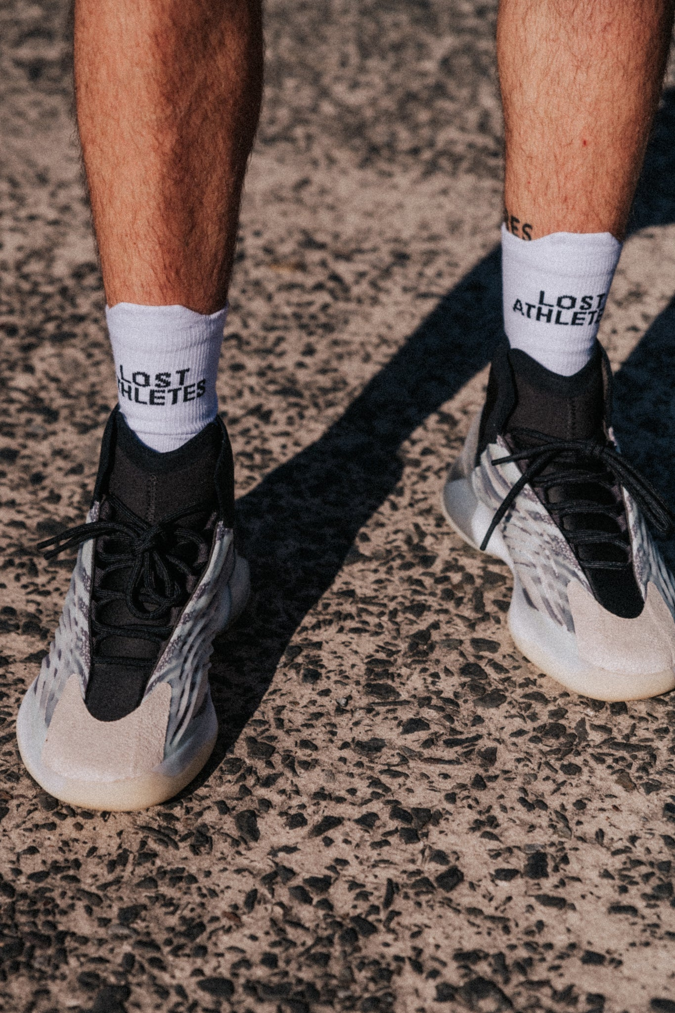 White LA crew socks