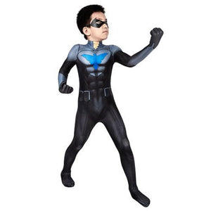 Nightwing Son of Batman (For Kid)-movie/tv/game jumpsuit-Animee Cosplay