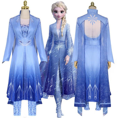 Frozen II Elsa Cosplay Dress/Costume