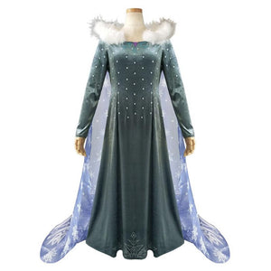 Frozen II Queen Elsa Cosplay Dress/Costume-movie/tv/game costume-Animee Cosplay