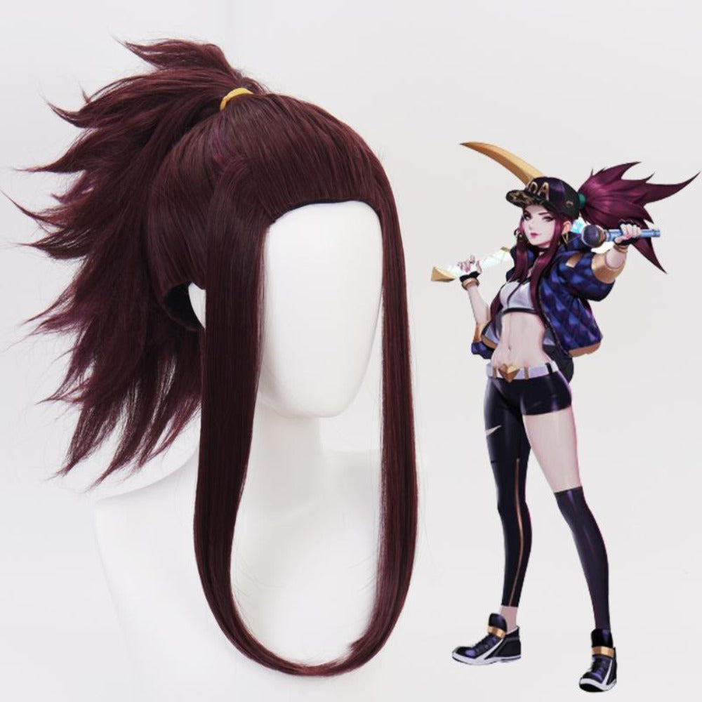 LOL KDA - Akali-cosplay wig-Animee Cosplay
