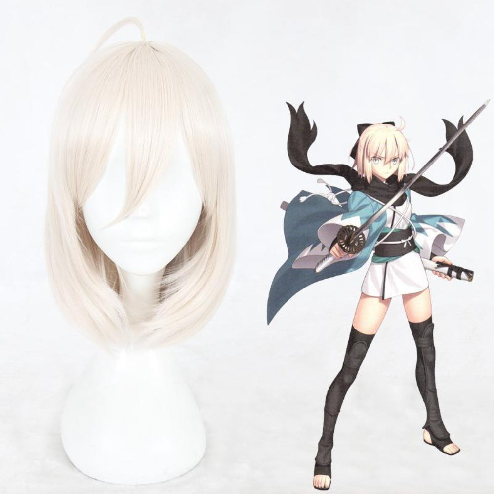 Fate/Grand Order Okita Souji-cosplay wig-Animee Cosplay