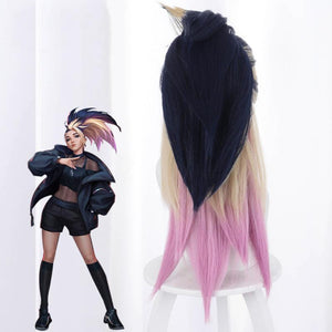 League of Legends [LOL] : K/DA - Akali (Gold mixed)-cosplay wig-Animee Cosplay