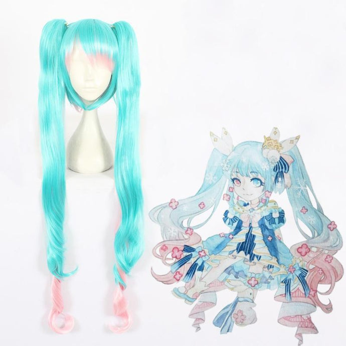 Vocaloid-Snow Miku 2019-cosplay wig-Animee Cosplay