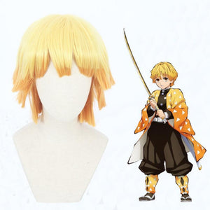 Demon Slayer-Agatsuma Zenitsu-cosplay wig-Animee Cosplay