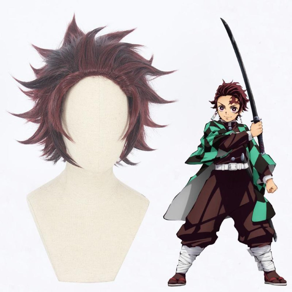 Demon Slayer-Kamado Tanjiro-cosplay wig-Animee Cosplay