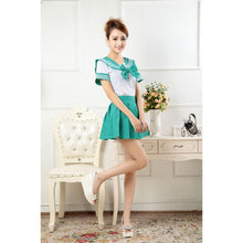 Load image into Gallery viewer, Green Sailor Suit Dress-costume-Animee Cosplay