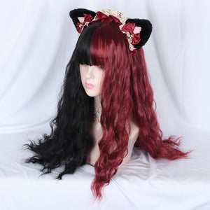 Lolita Wig Double Color Long Curly