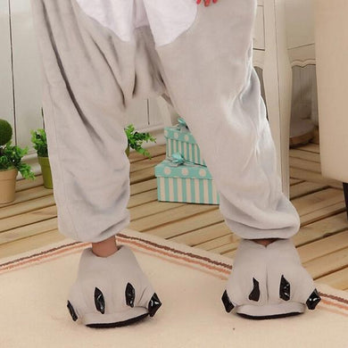 Kigurumi Animal Shoes Grey-UNIQSO