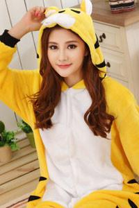 Kigurumi Onesie Yellow Tiger Animal-UNIQSO