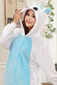 Kigurumi Onesie Blue Unicorn Animal-UNIQSO