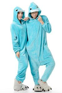 Kigurumi Onesie Blue Buckteeth-UNIQSO